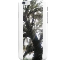 Live oak tree with Spanish moss blowing in wind iPhone Case/Skin