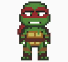 Raph TMNT 2012 Mini Pixel by geekmythology