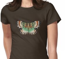 Paisley Butterfly Womens Fitted T-Shirt