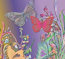 Pastel Butterflies by Dominic Melfi