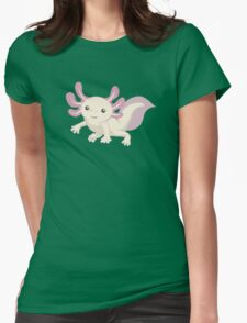 Cute Axolotl Womens Fitted T-Shirt