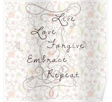 live love repeat Poster