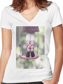 wellies Women's Fitted V-Neck T-Shirt