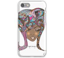 Lady Chocolat Feminine Illustration  iPhone Case/Skin