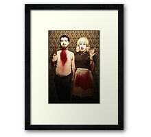 Pseudo American Gothic Framed Print