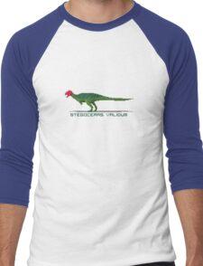 Pixel Stegoceras Men's Baseball ¾ T-Shirt