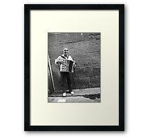 Busker Framed Print