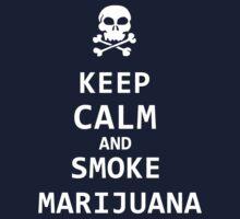 keep calm and smoke marijuana by hottehue