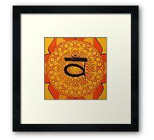 Sacral Chakra Framed Print