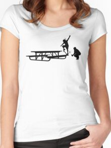 Remote front blunt Women's Fitted Scoop T-Shirt