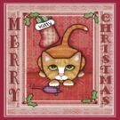 Merry Christmas Cat T-Shirt by Jamie Wogan Edwards