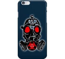 biohazard gas mask iPhone Case/Skin