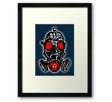 biohazard gas mask Framed Print