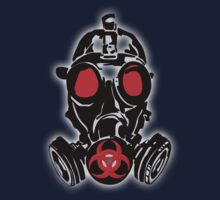 biohazard gas mask by hottehue