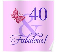 Fabulous 40th Birthday For Her Poster
