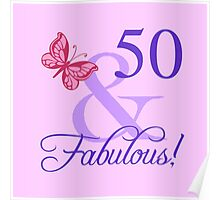 Fabulous 50th Birthday For Her Poster