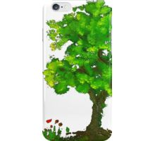 Tree of life and naughty pansies. iPhone Case/Skin