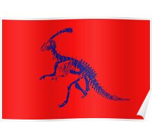 Dino Red Blue Poster