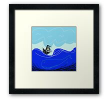 Wild Sea Framed Print