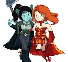 Dota 2 - Mortred and Lina by keterok