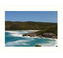 Carpark view of the beach Art Print