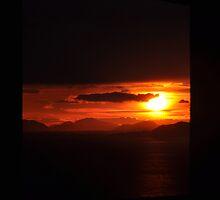 Sunset Seen Thru A Window by godius