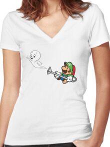 Luigi V Casper Women's Fitted V-Neck T-Shirt