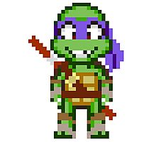 Donnie TMNT 2012 Mini Pixel Photographic Print