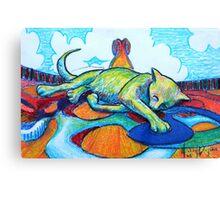 Sleeping on Deck Canvas Print