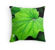 Giant Green Leaf Throw Pillow