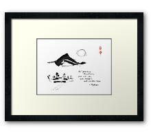 Yahiko Mountain Framed Print