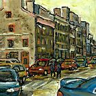 CANADIAN ART OLD MONTREAL CALVET HOUSE  PAINTINGS by Carole  Spandau