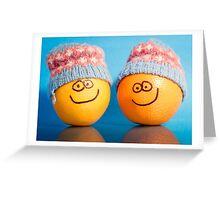 Orange Hats Greeting Card