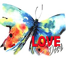 Love Does Butterfly Photographic Print