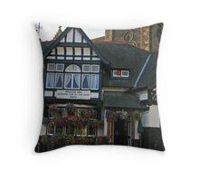 Bridge Inn Throw Pillow