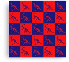Dino Red Blue Canvas Print