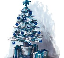 blue christmas by Danelle Malan