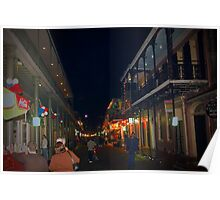 Winding Down Bourbon Street Poster