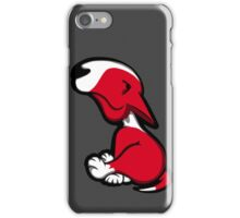 Innocent English Bull Terrier Puppy Red iPhone Case/Skin