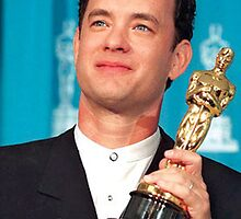 Tom Hanks With his Oscar by DavidFakner