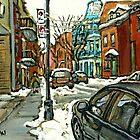 CELEBRATE MONTREAL 375 HISTORICAL PLATEAU MONT ROYAL STREET by Carole  Spandau