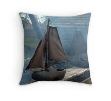 Dutch... Sailing Ship - Klomp met een zeiltje Throw Pillow