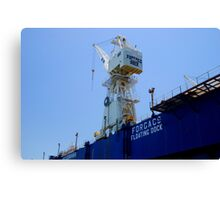 Newcastle Harbour - Forjacs Floating Dock Canvas Print