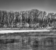 A Very Cold Morning On The Wisconsin River by Thomas Young