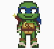 Leo TMNT 2012 Mini Pixel by geekmythology