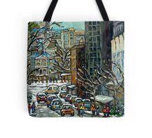 MONTREAL ART MCGILL UNIVERSITY RODDICK GATES Tote Bag