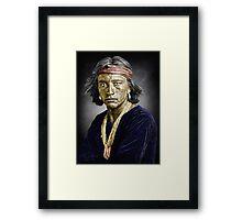 Navajo boy Framed Print