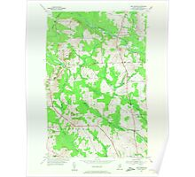 Maine USGS Historical Map New Sweden 806961 1953 24000 Poster