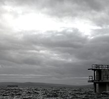 Diving board at Blackrock, Galway by GregBPhotos