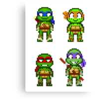 Teenage Mutant Ninja Turtles 2012 Mini Pixels Canvas Print